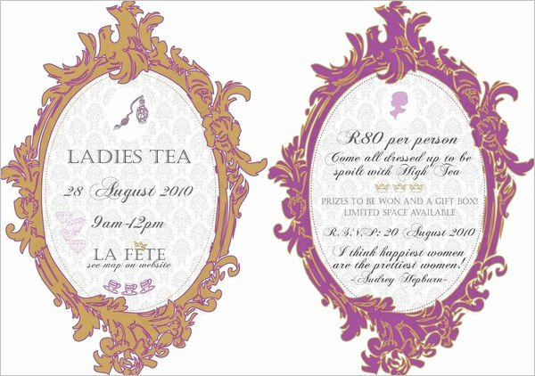 41 Tea Party Invitation Templates Psd Ai