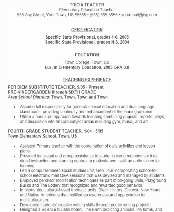 41 Teacher Resume formats