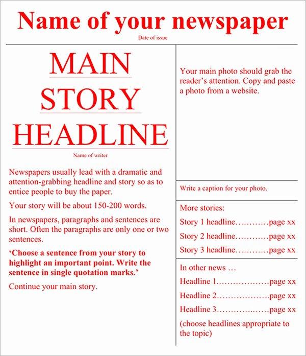 42 Amazing Newspaper Templates
