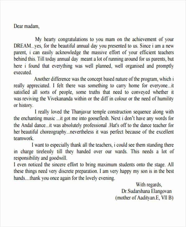 42 Appreciation Letters In Pdf