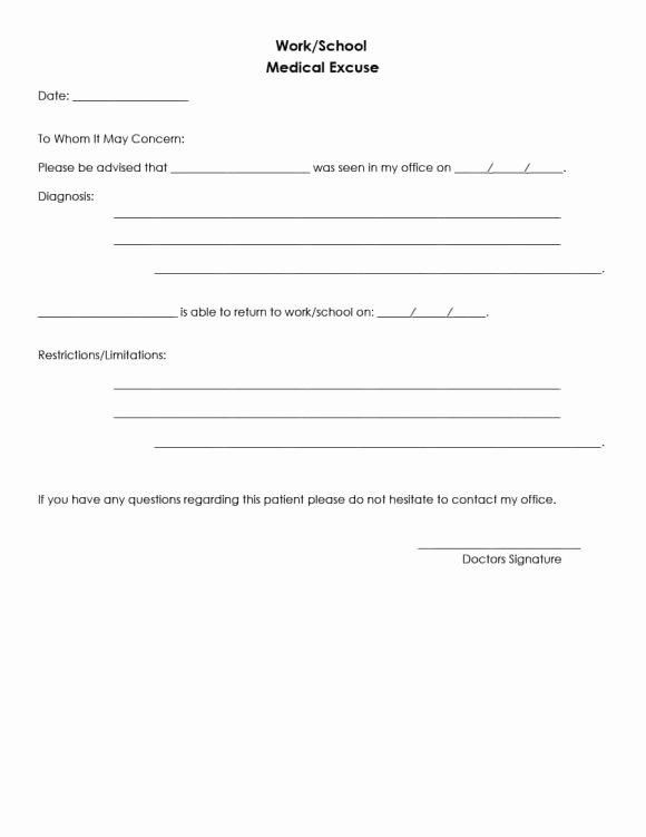 42 Fake Doctor S Note Templates for School & Work