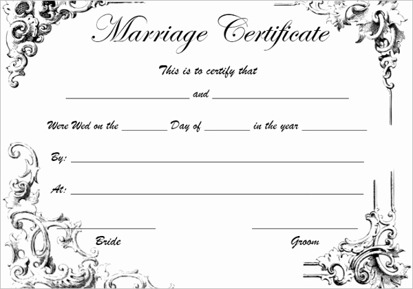 42 Free Marriage Certificate Templates Word Pdf Doc