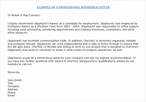42 Reference Letter Templates Pdf Doc