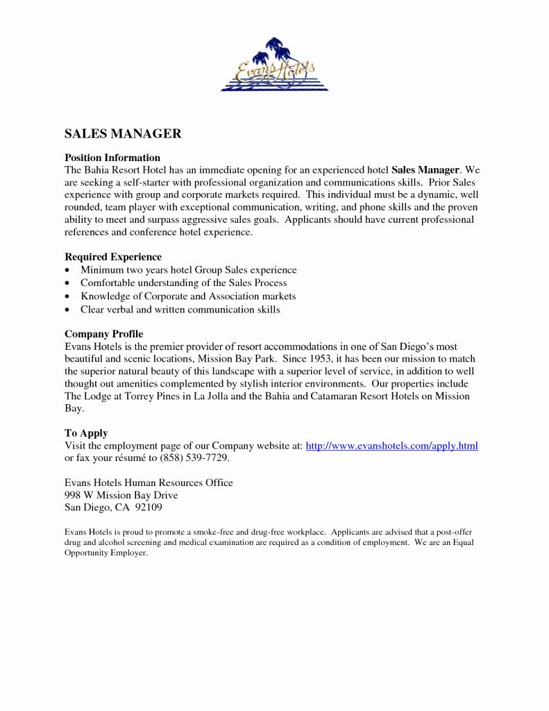 42 Sample Resume for Hotel Manager Resume Hotel