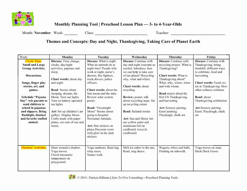43 Child Care Lesson Plan Template Child Care Lesson