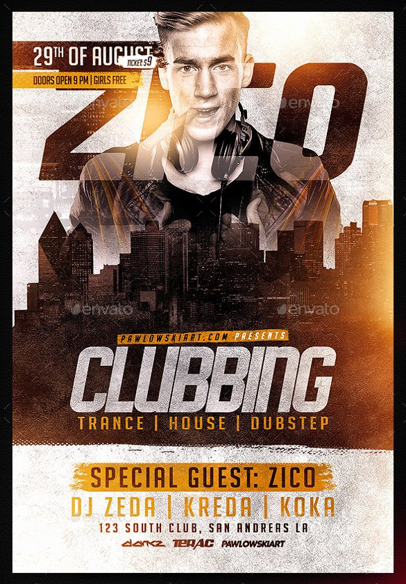 43 Club Flyer Templates Psd Rtf Pdf format Download