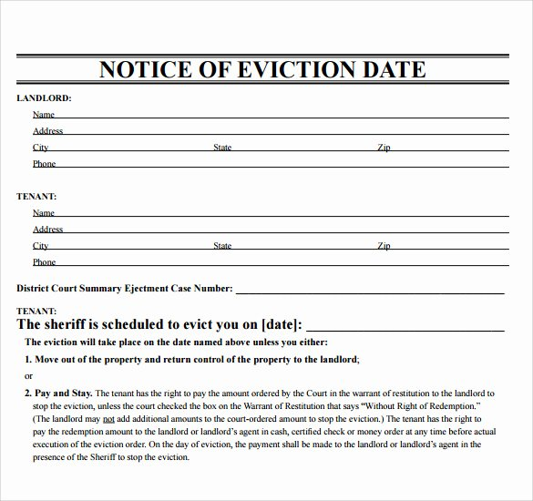 43 Eviction Notice Templates – Pdf Doc Apple Pages