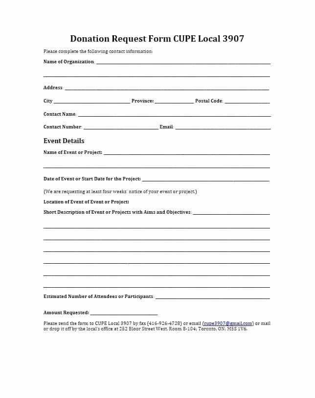 43 Free Donation Request Letters & forms Template Lab