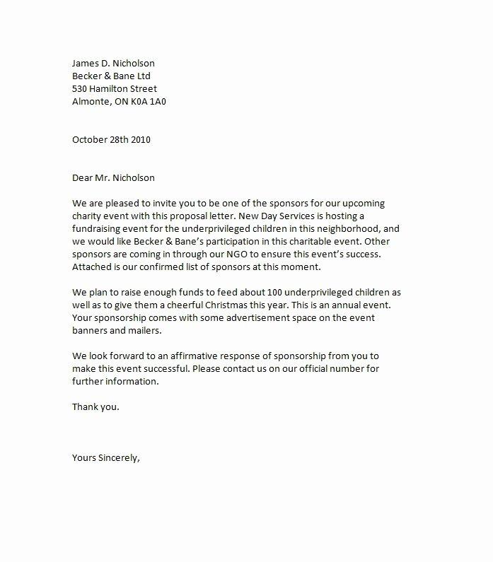43 Free Sponsorship Letter & Sponsorship Proposal