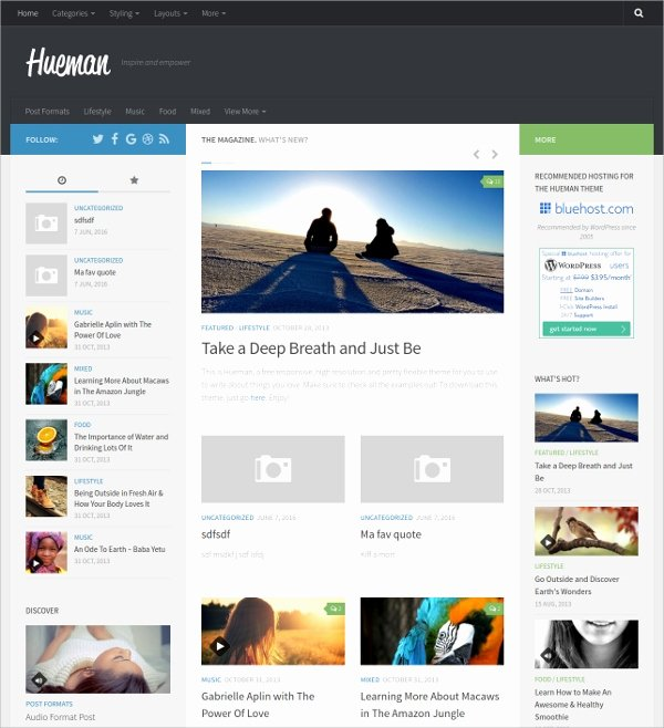 43 Free Wordpress themes & Templates