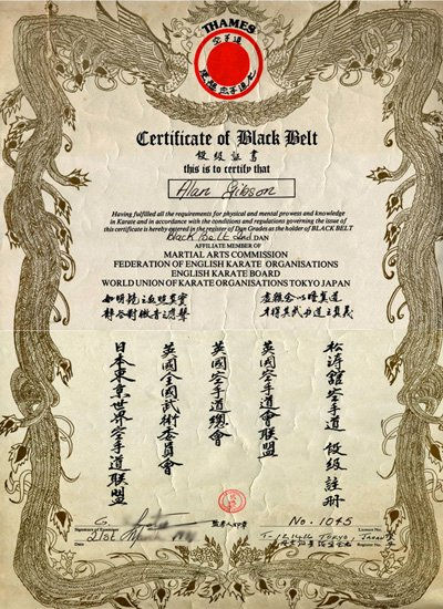 43 Karate Black Belt Certificate Templates Karate