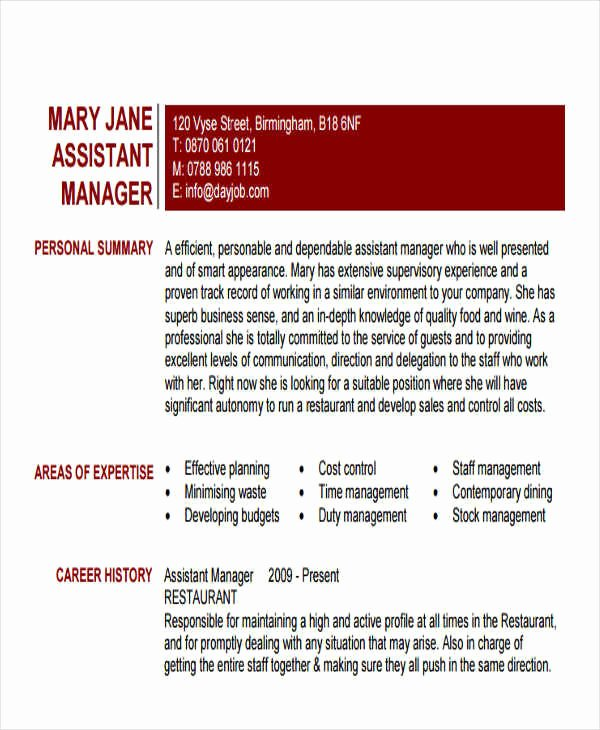 43 Manager Resume Samples In Pdf