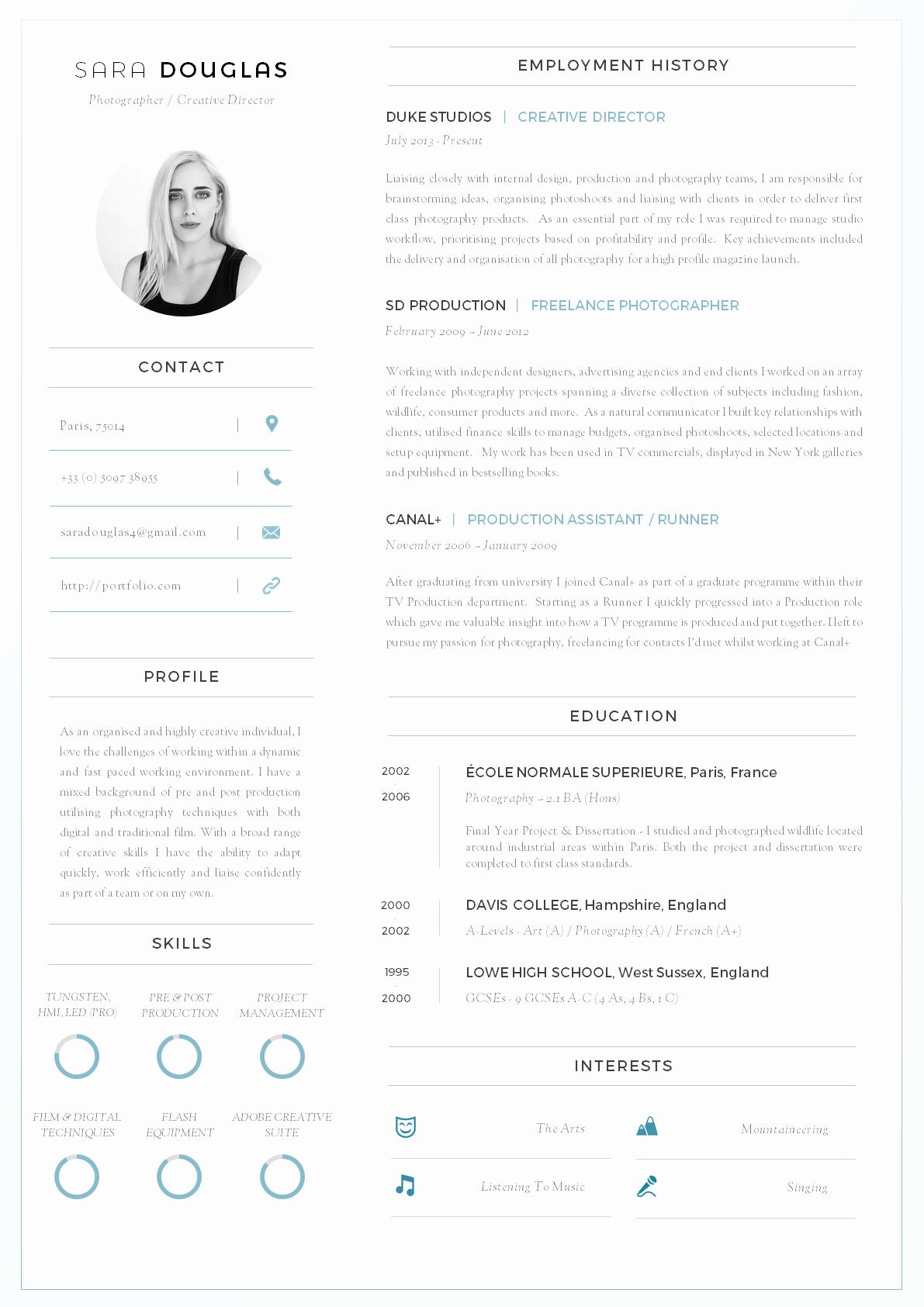 43 Modern Resume Templates