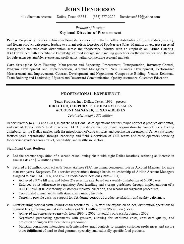 43 New Procurement Manager Resume Xv U – Resume Samples