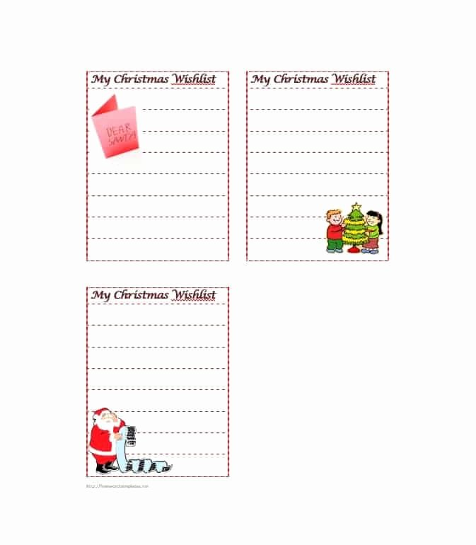 43 Printable Christmas Wish List Templates & Ideas