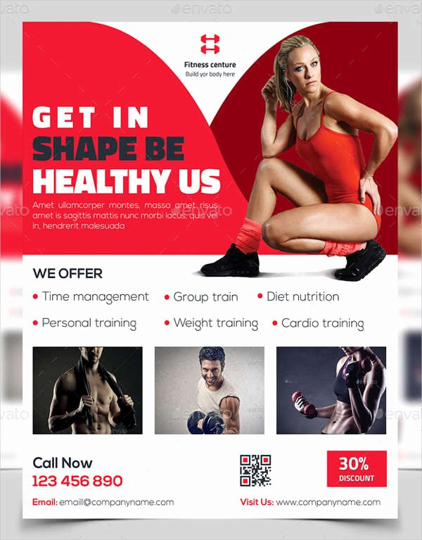 43 Printable Fitness Flyers Psd Eps