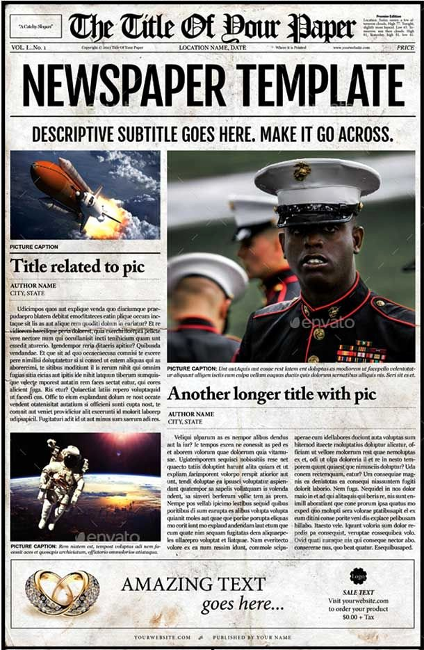 44 Amazing Newspaper Templates Available In Psd