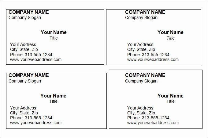 44 Free Blank Business Card Templates Ai Word Psd