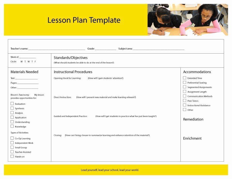 44 Free Lesson Plan Templates [ Mon Core Preschool