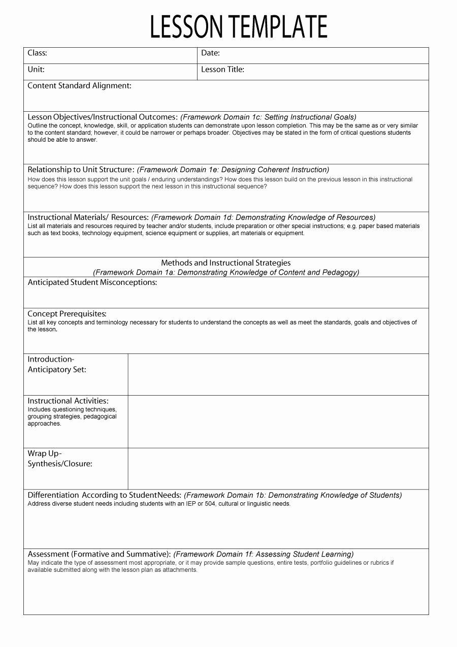 44 Free Lesson Plan Templates [ Mon Core Preschool Weekly]