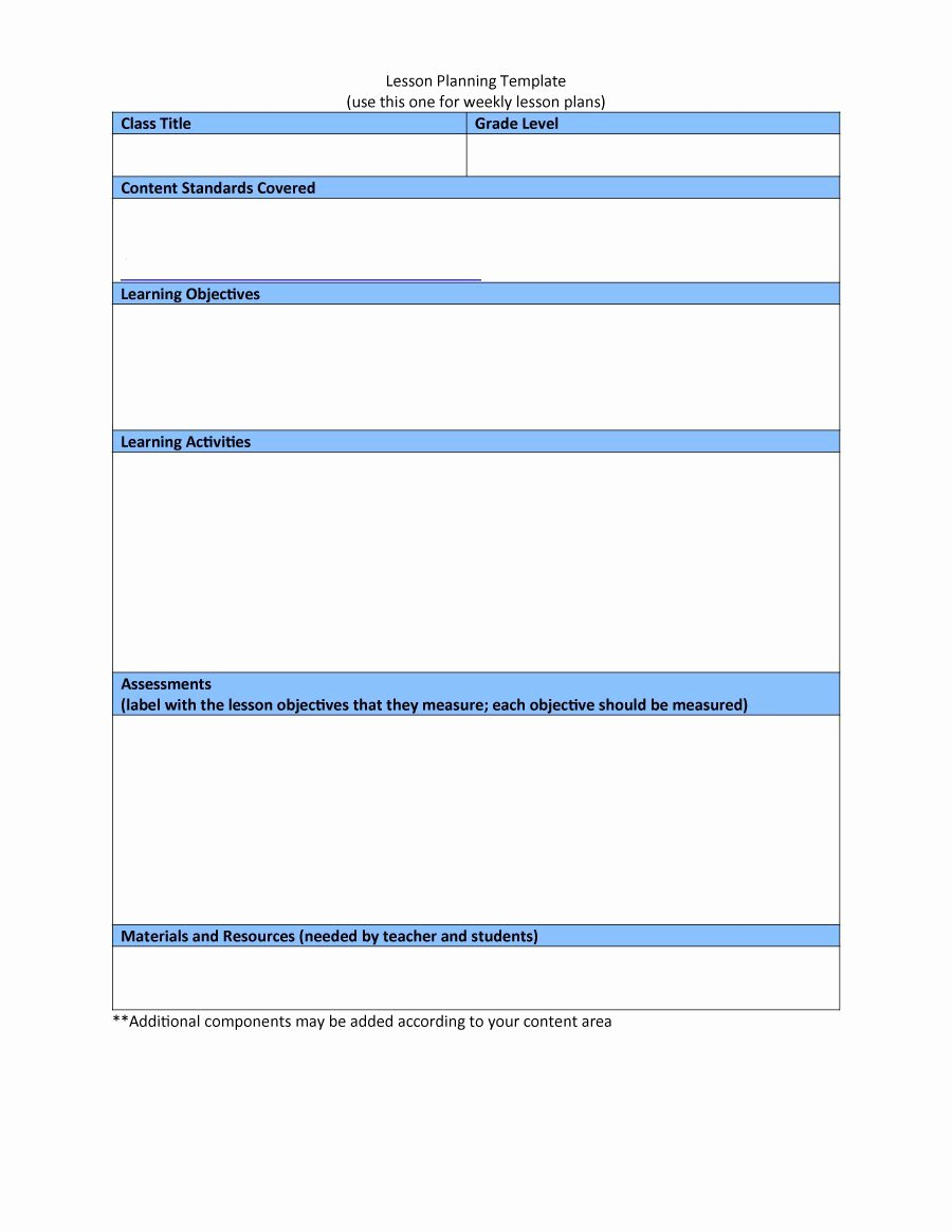 44 Free Lesson Plan Templates [ Mon Core Preschool Weekly]