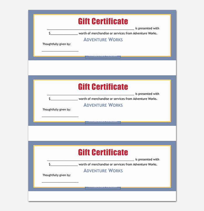 44 Free Printable Gift Certificate Templates for Word & Pdf