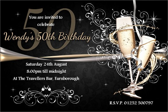 45 50th Birthday Invitation Templates – Free Sample