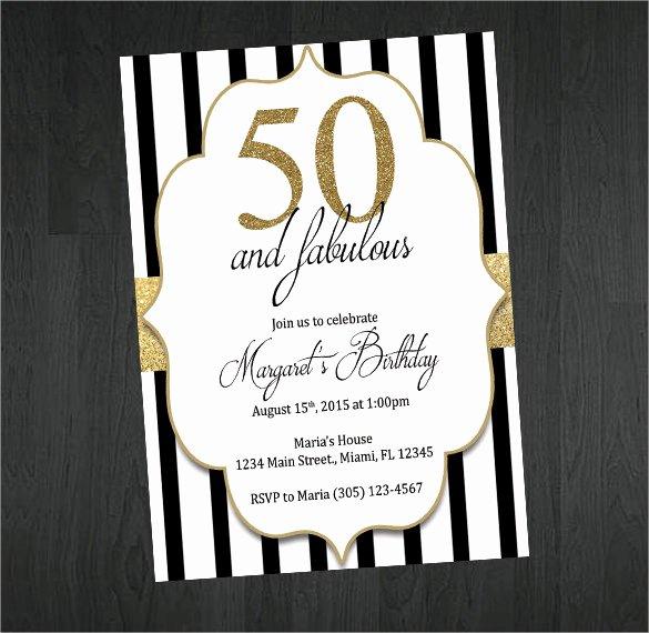 45 50th Birthday Invitation Templates – Free Sample