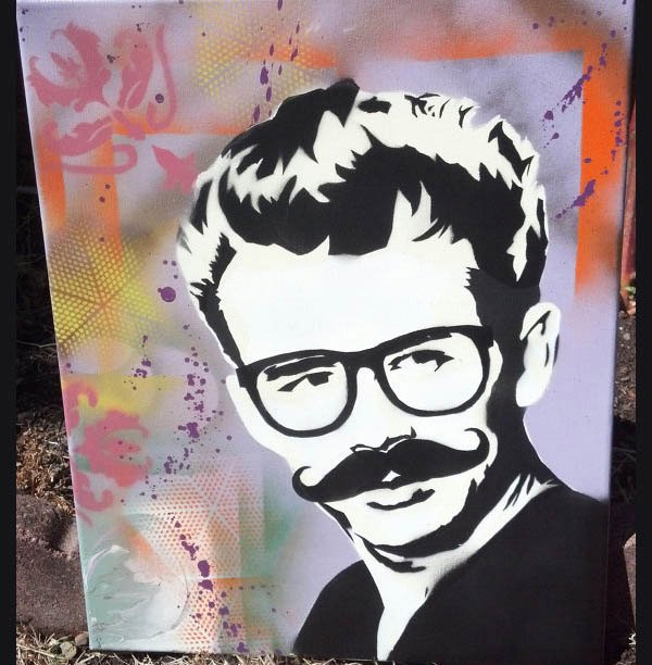 45 Beautiful Spray Paint Art Stencils
