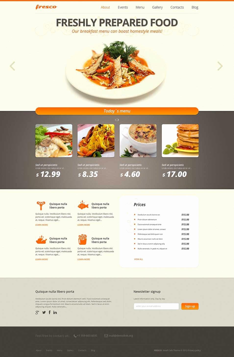 45 Best Cafe & Restaurants Joomla Templates & themes