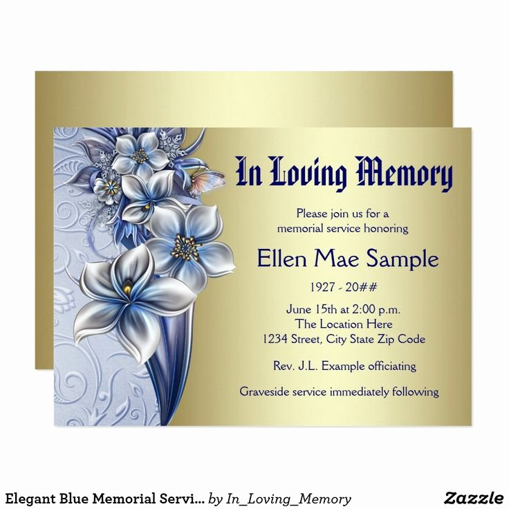45 Best Funeral Invitations Announcements Images On