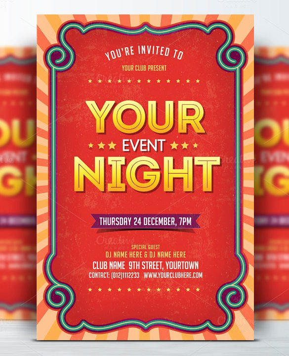 45 event Flyer Templates Psd Ai Word Eps Vector