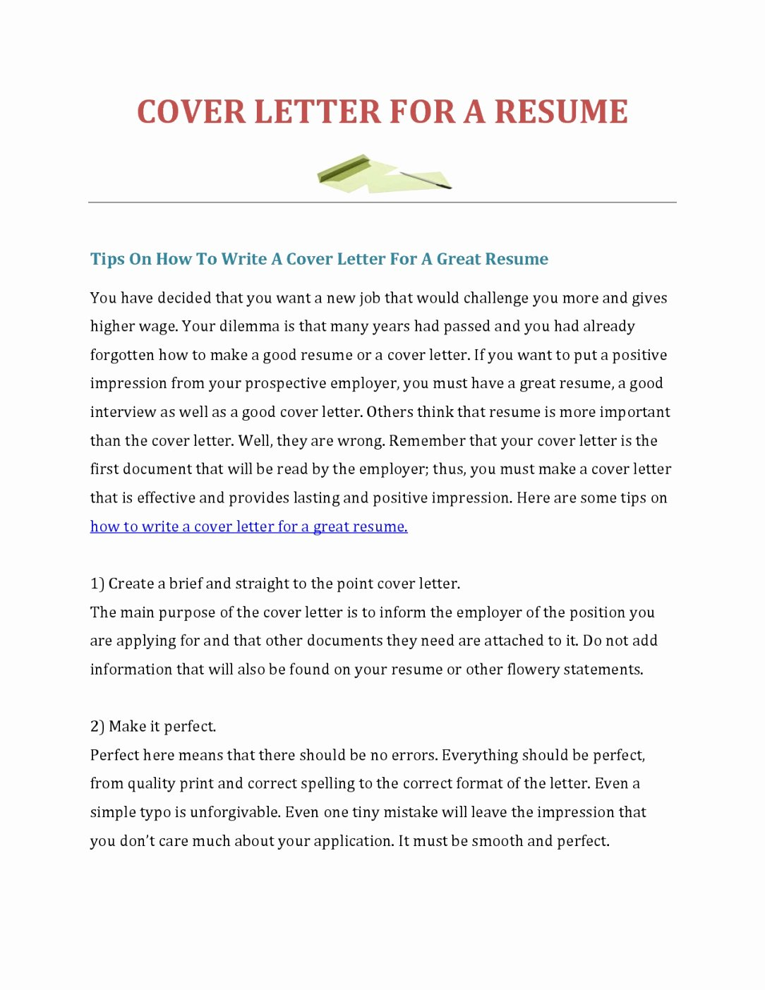 45 Make A Free Cover Letter How to Make A Cover Letter