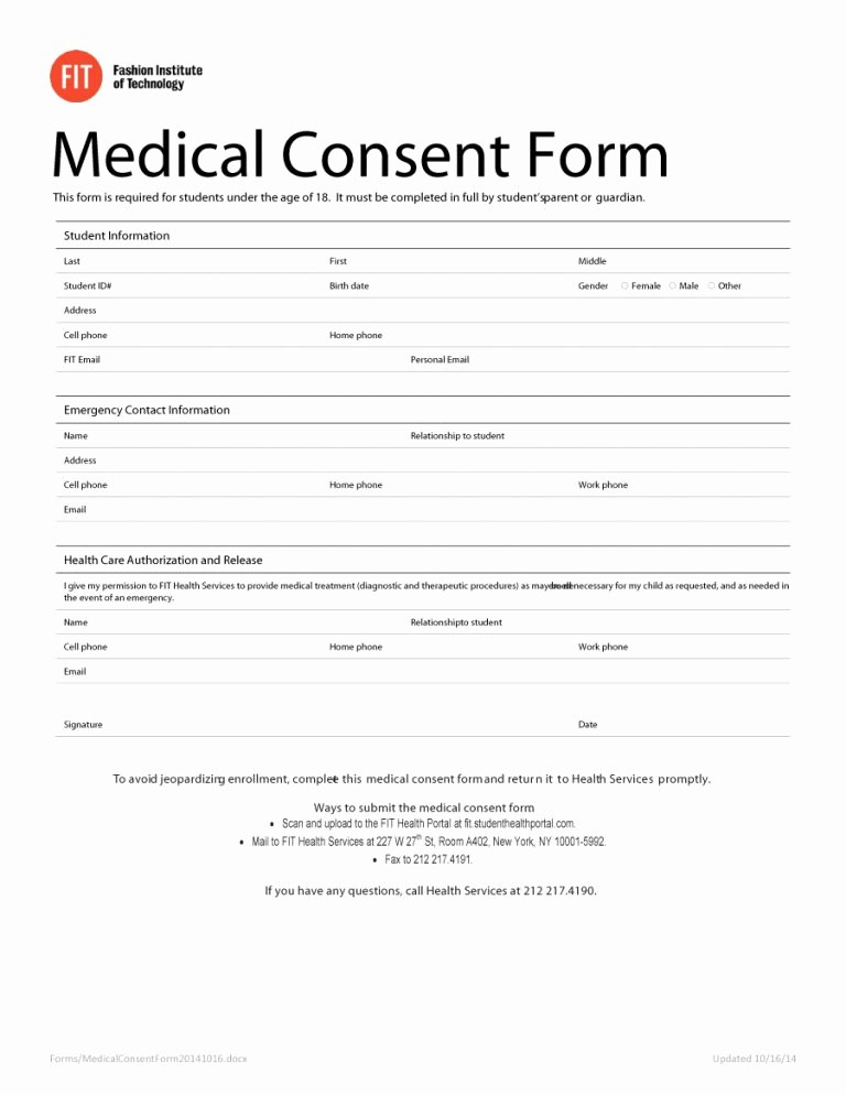45 Medical Consent forms Free Printable Templates