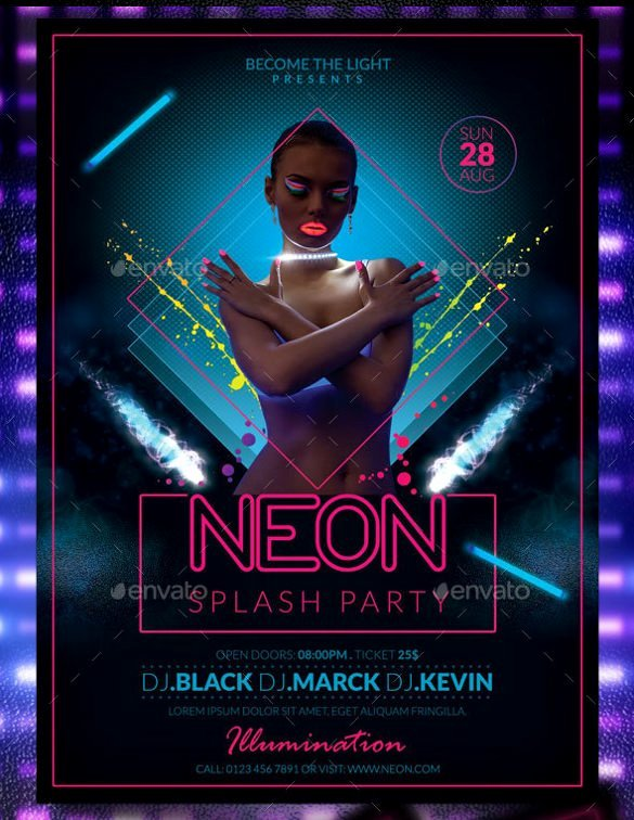 45 Party Flyer Template Free Psd Eps format Download