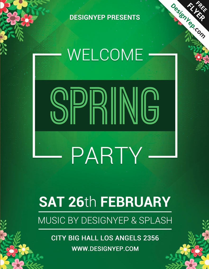 45 Premium & Free Fresh Spring Psd Flyer Templates