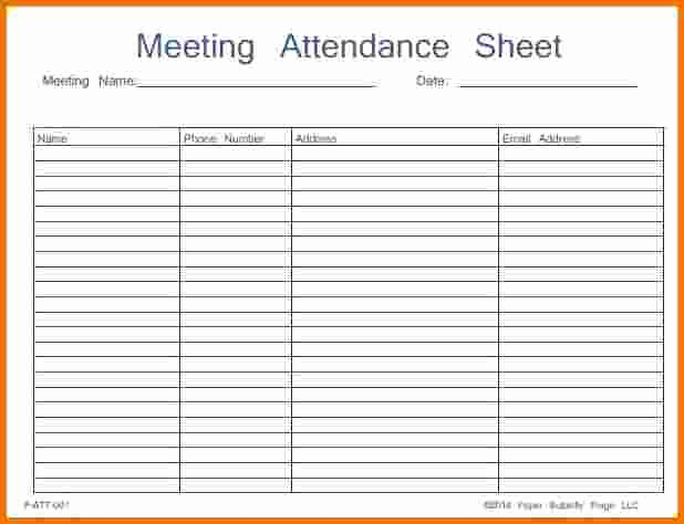46 Best attendance Sheet Template Examples for Classroom