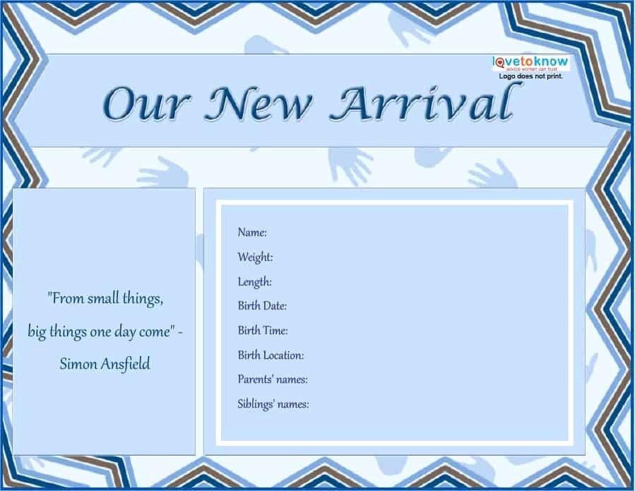 46 Birth Announcement Templates Cards Ideas & Wording