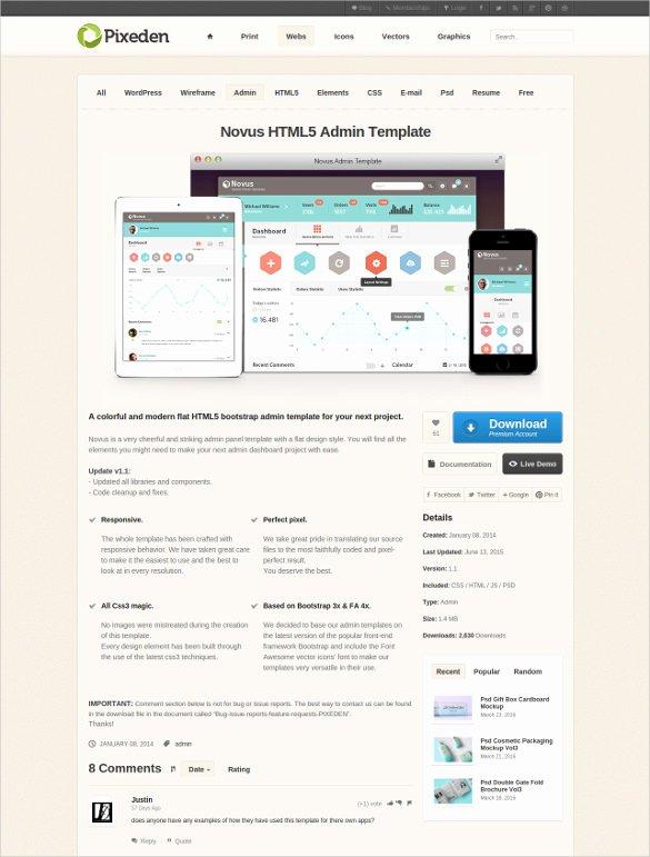 46 Bootstrap Admin themes & Templates