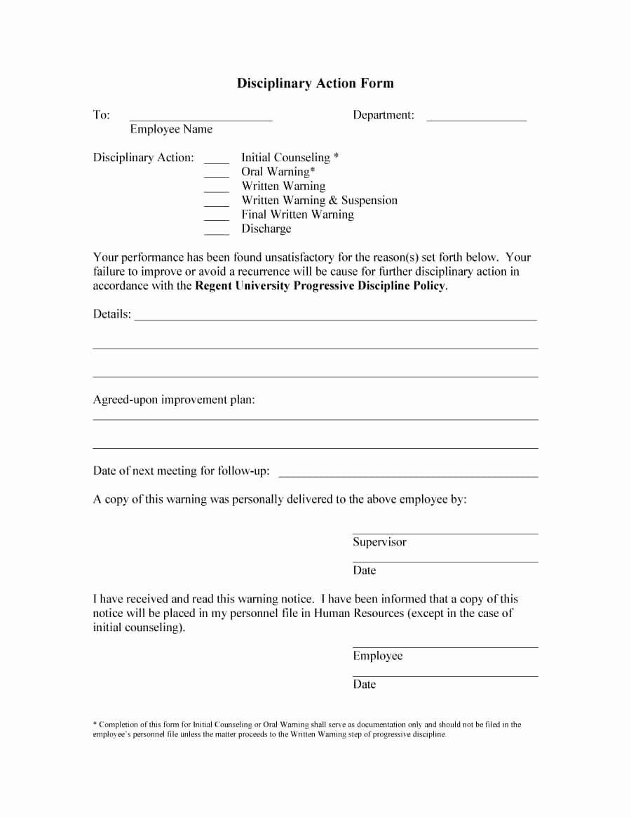 46 Effective Employee Write Up forms [ Disciplinary