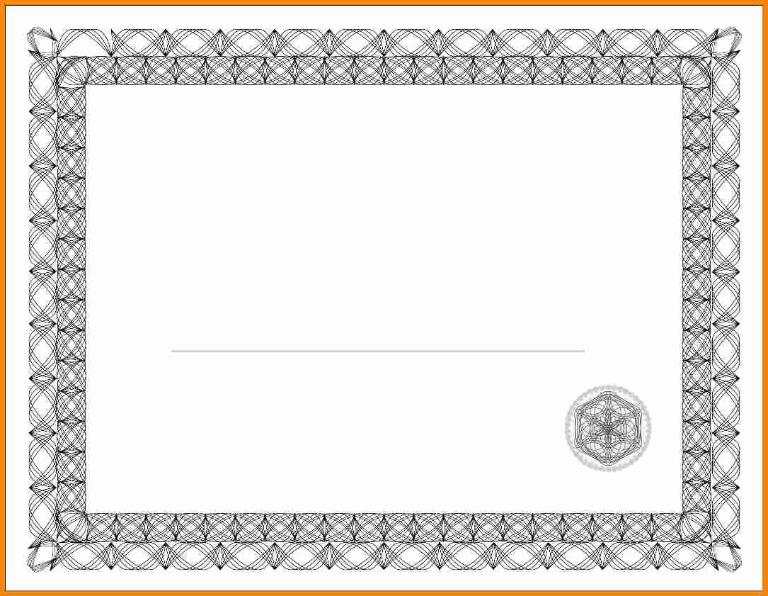 46 Free Printable Blank Certificate Templates Pletion