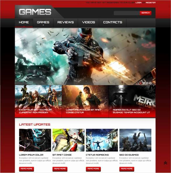 46 Gaming Website themes & Templates