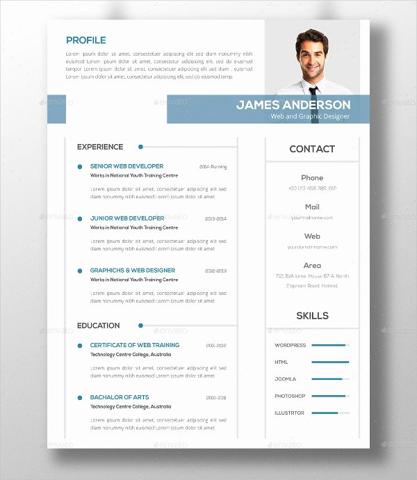 46 Modern Resume Templates Pdf Doc Psd