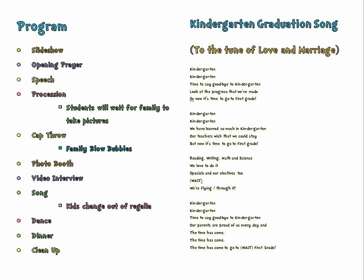 46 Preschool Graduation Program Templates Free Gallery