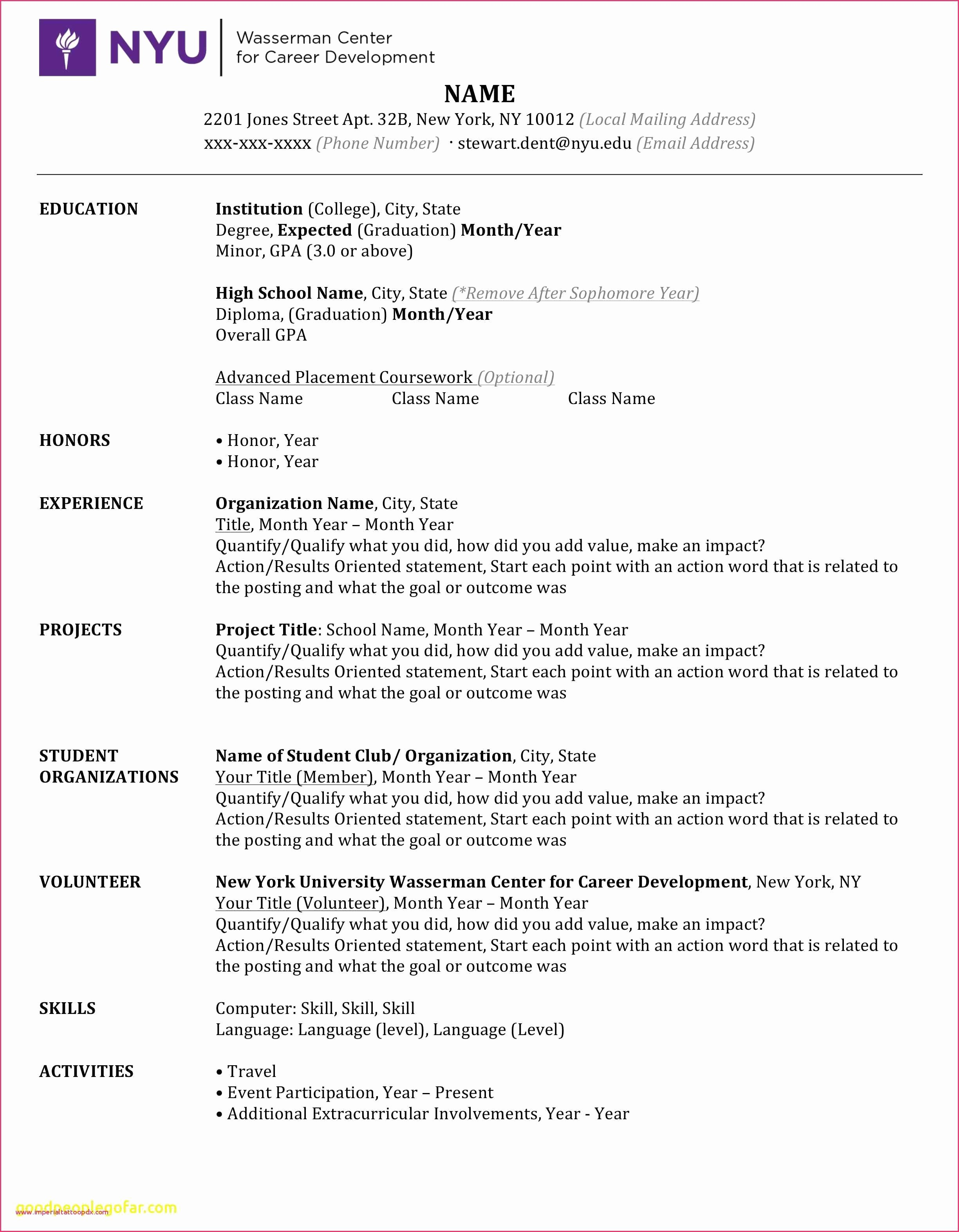 46 Resume Template Download for Microsoft Word 2007