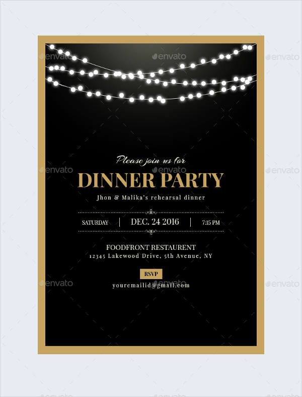 47 Dinner Invitation Templates Psd Ai