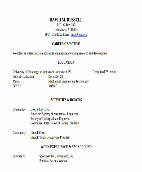 47 Engineering Resume Samples Pdf Doc