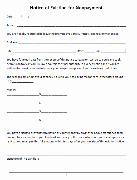 47 Eviction Notice Templates & Sample Letters Free