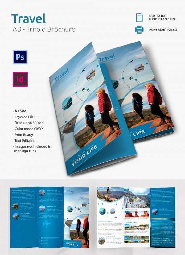 47 Travel Brochure Templates Free Sample Example