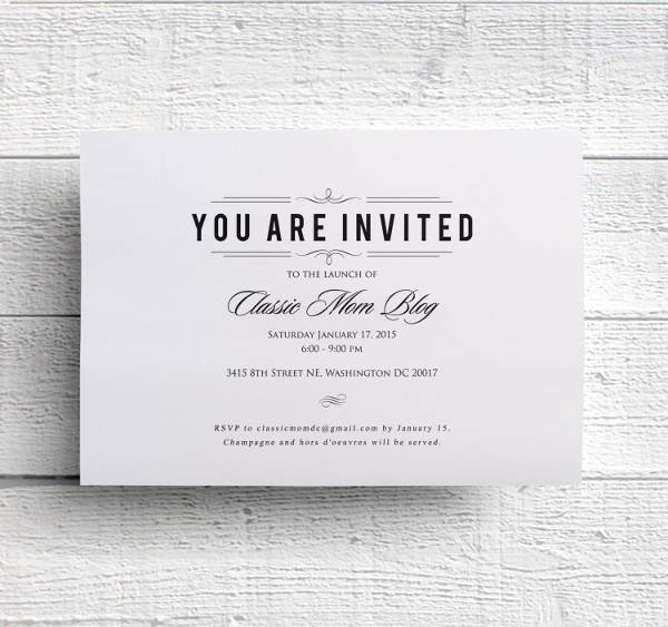 48 Dinner Invitation Psd Templates Psd